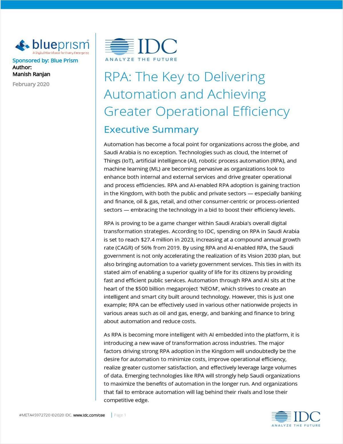 IDC RPA Survey Report