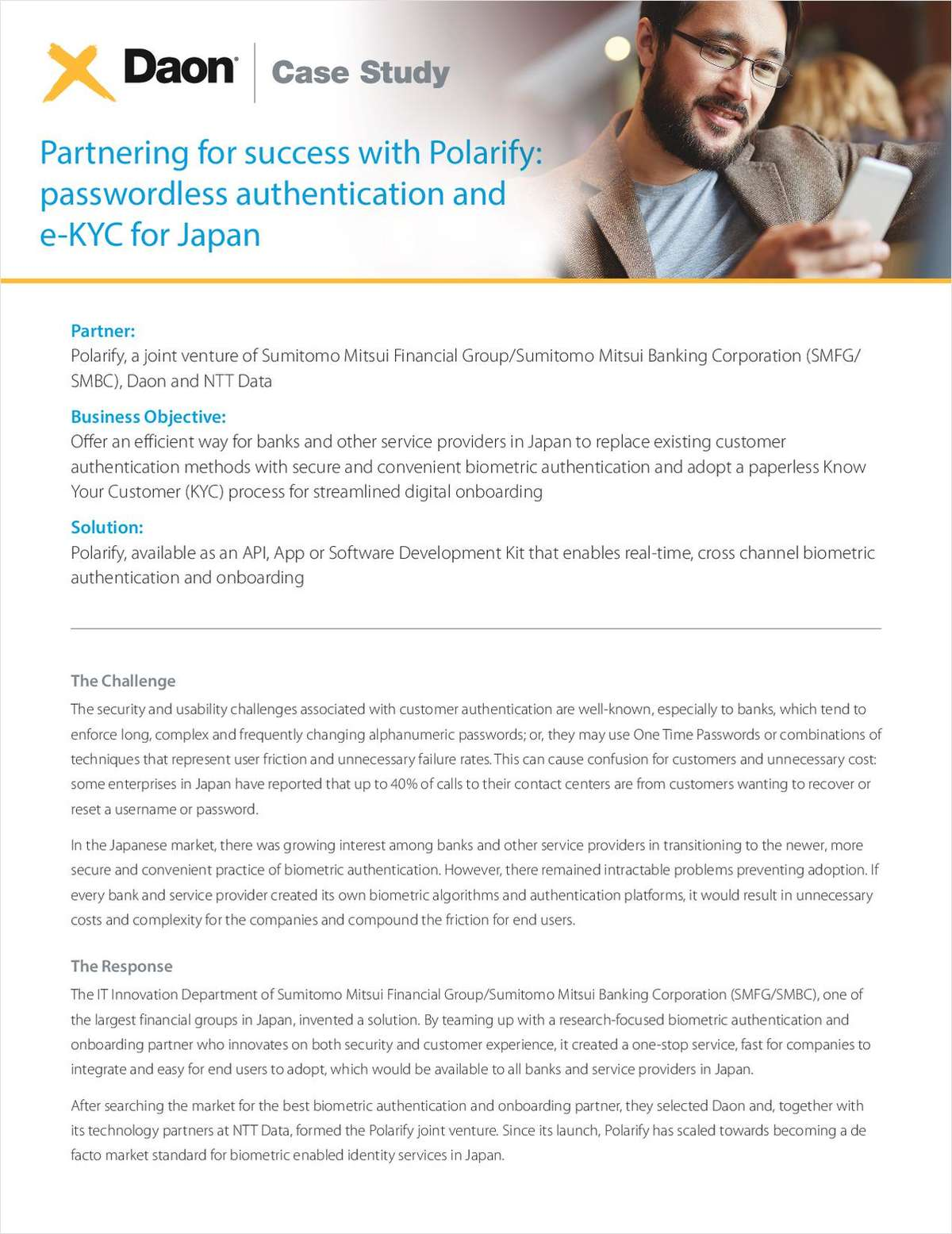 How Sumitomo Mitsui, NTT, and Daon Partner to Bring Passwordless Authentication and e-KYC to Japan