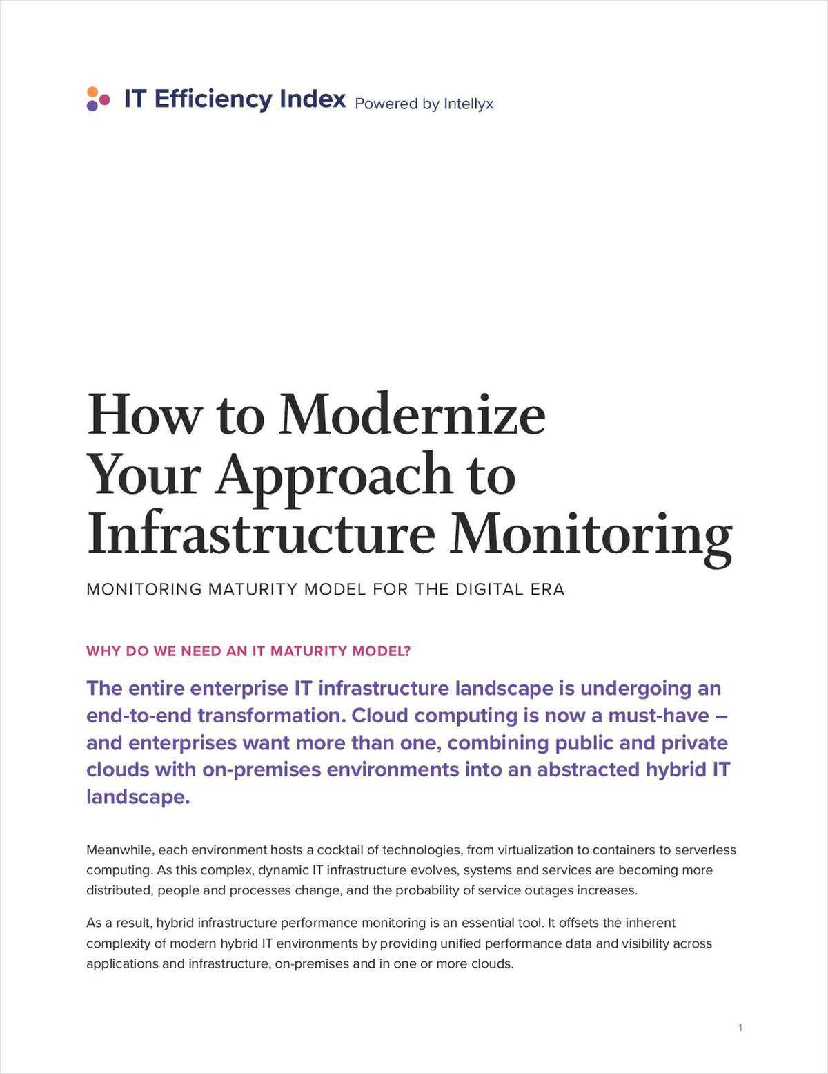 How to Modernize Your Approach to Infrastructure Monitoring