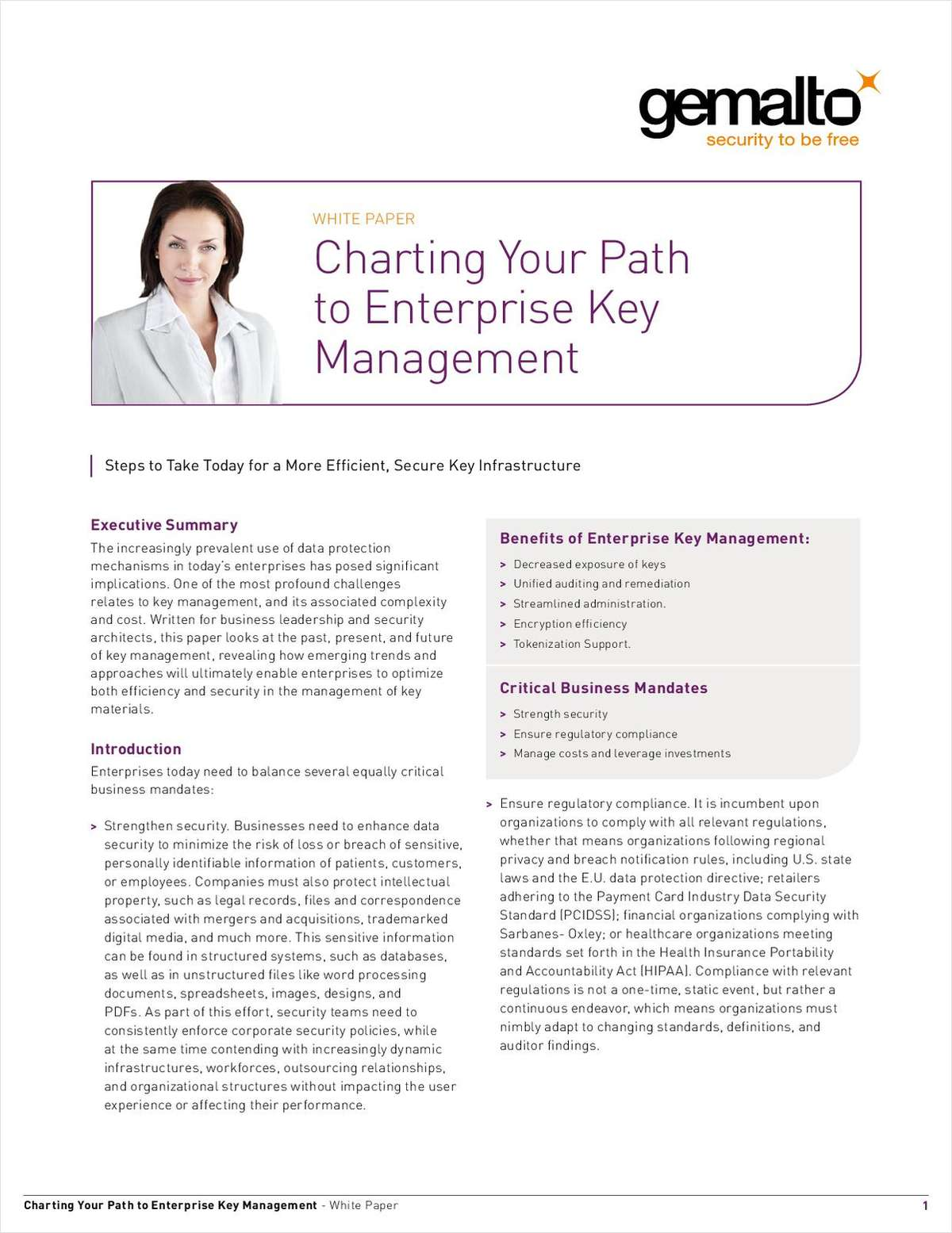 Charting Your Path to Enterprise Key Management