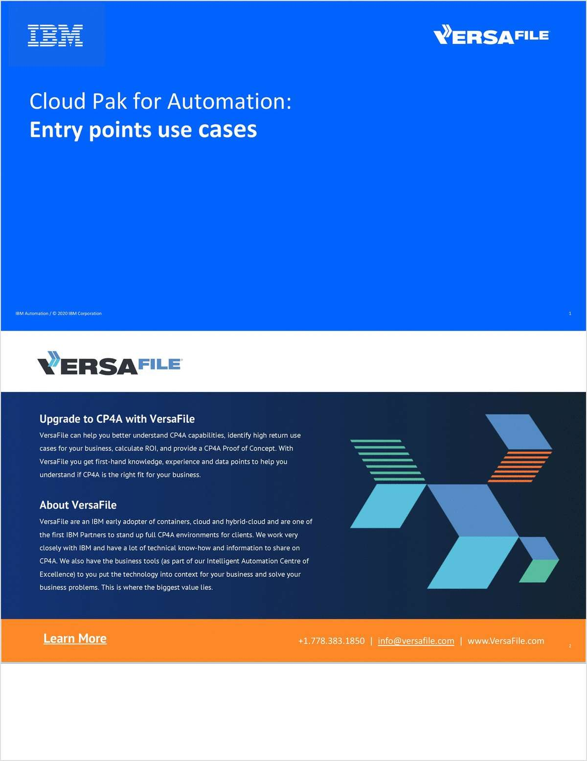 Cloud Pak for Automation: Entry points use cases