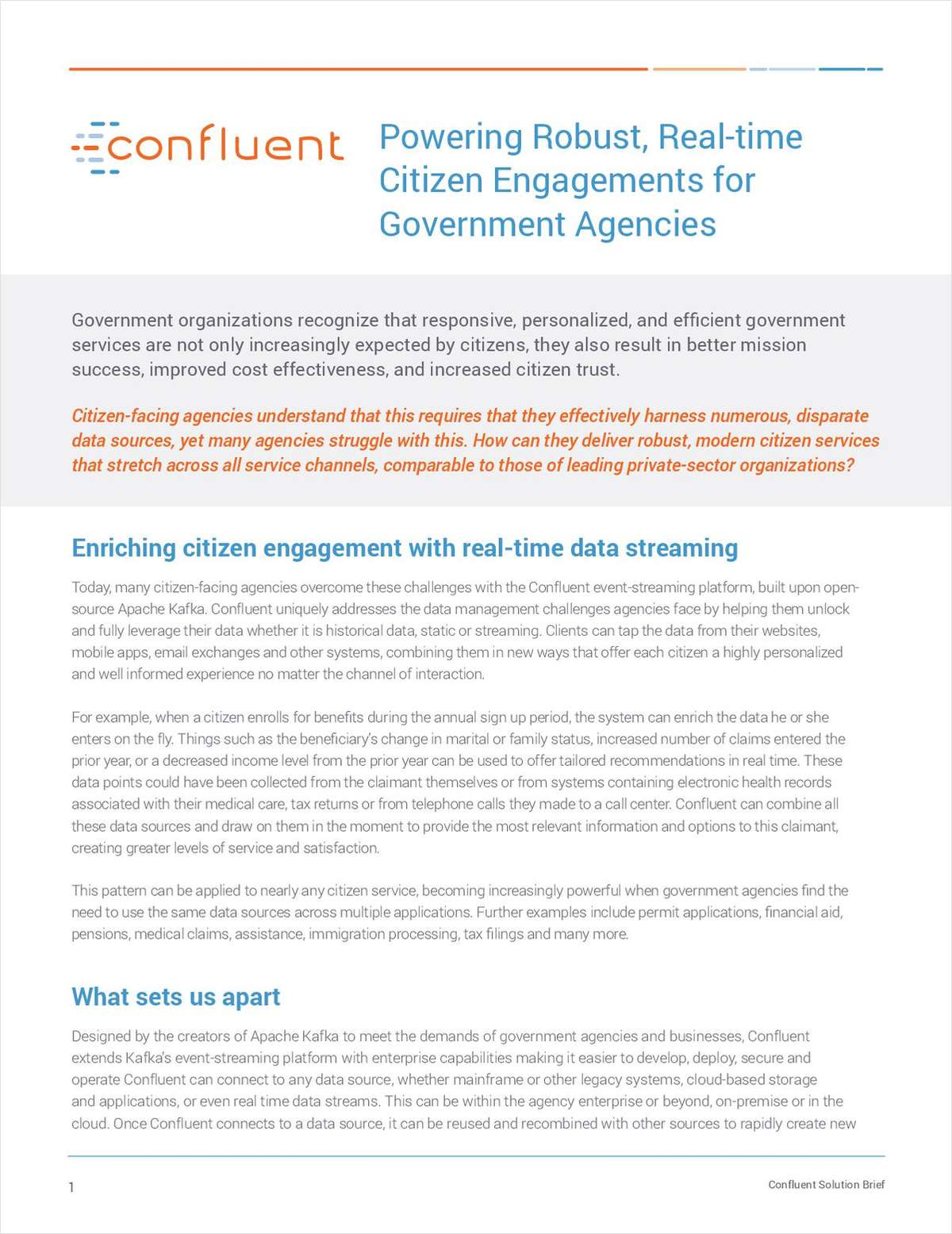 Powering Robust, Real-time Citizen Engagement for Government Agencies