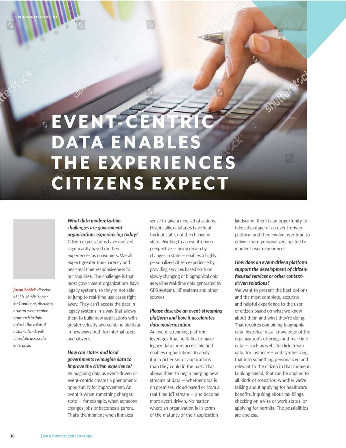 GovTech Interview: Event-Centric Data Enables the Experiences Citizens Expect