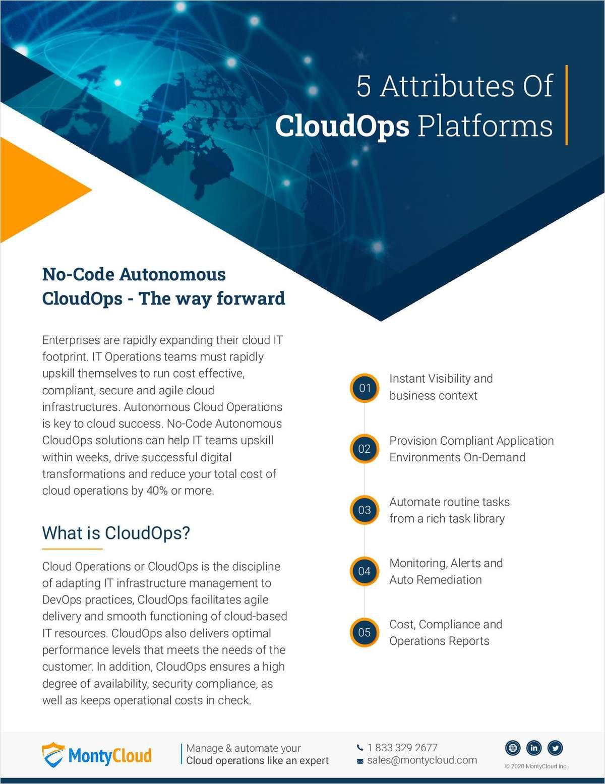 5 Attributes Of CloudOps Platforms