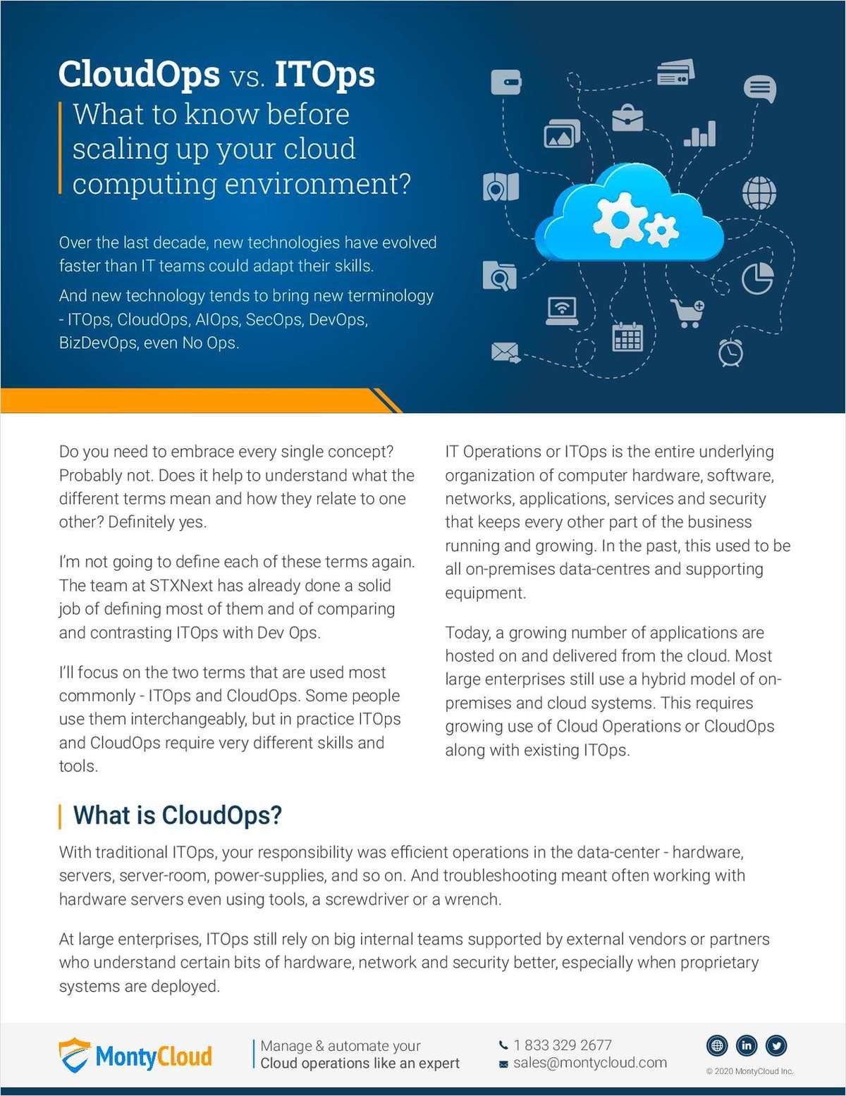 CloudOps vs. ITOps