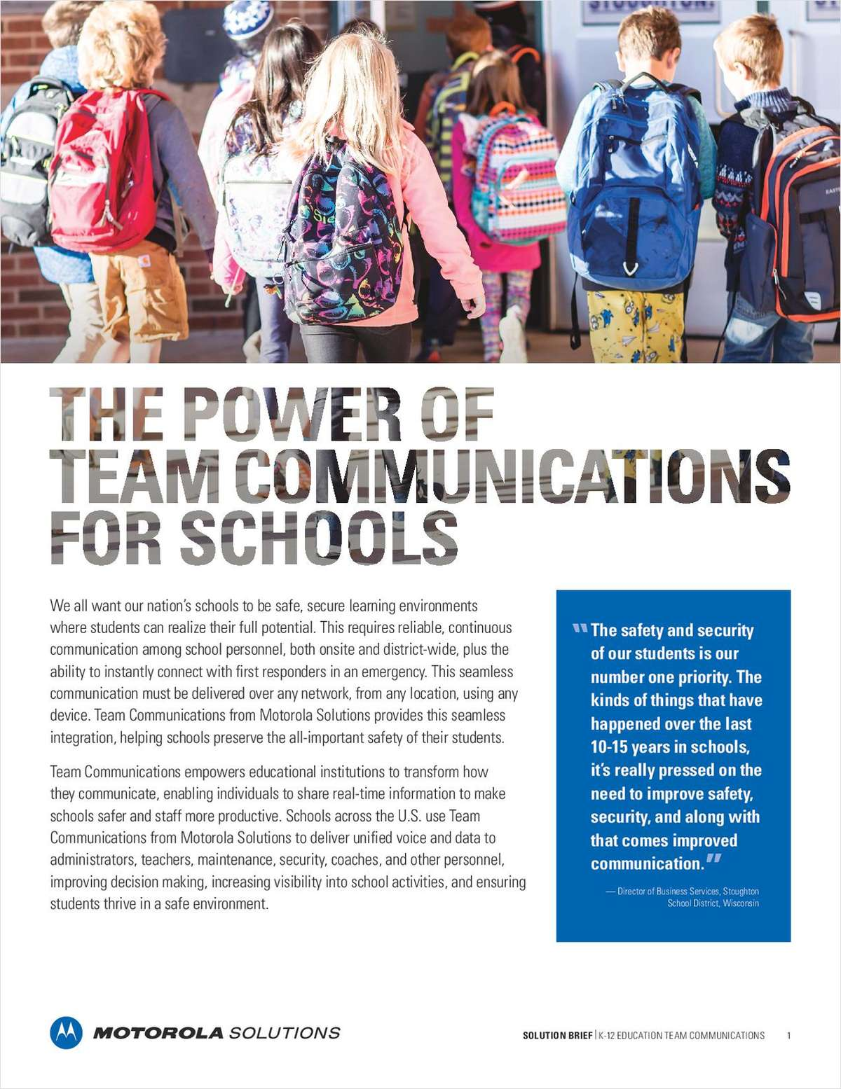 The Power of Team Communications for Schools