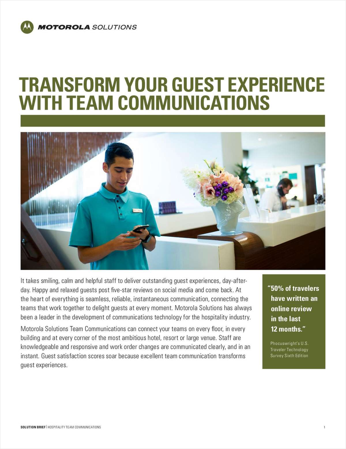 Transform Your Guest Experience With Team Communications