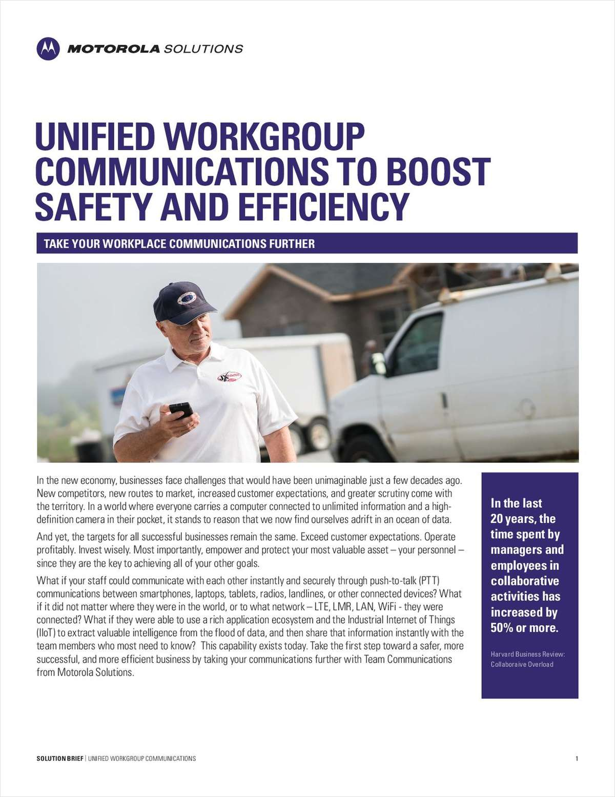 Unified Workgroup Communications to Boost Safety and Efficiency
