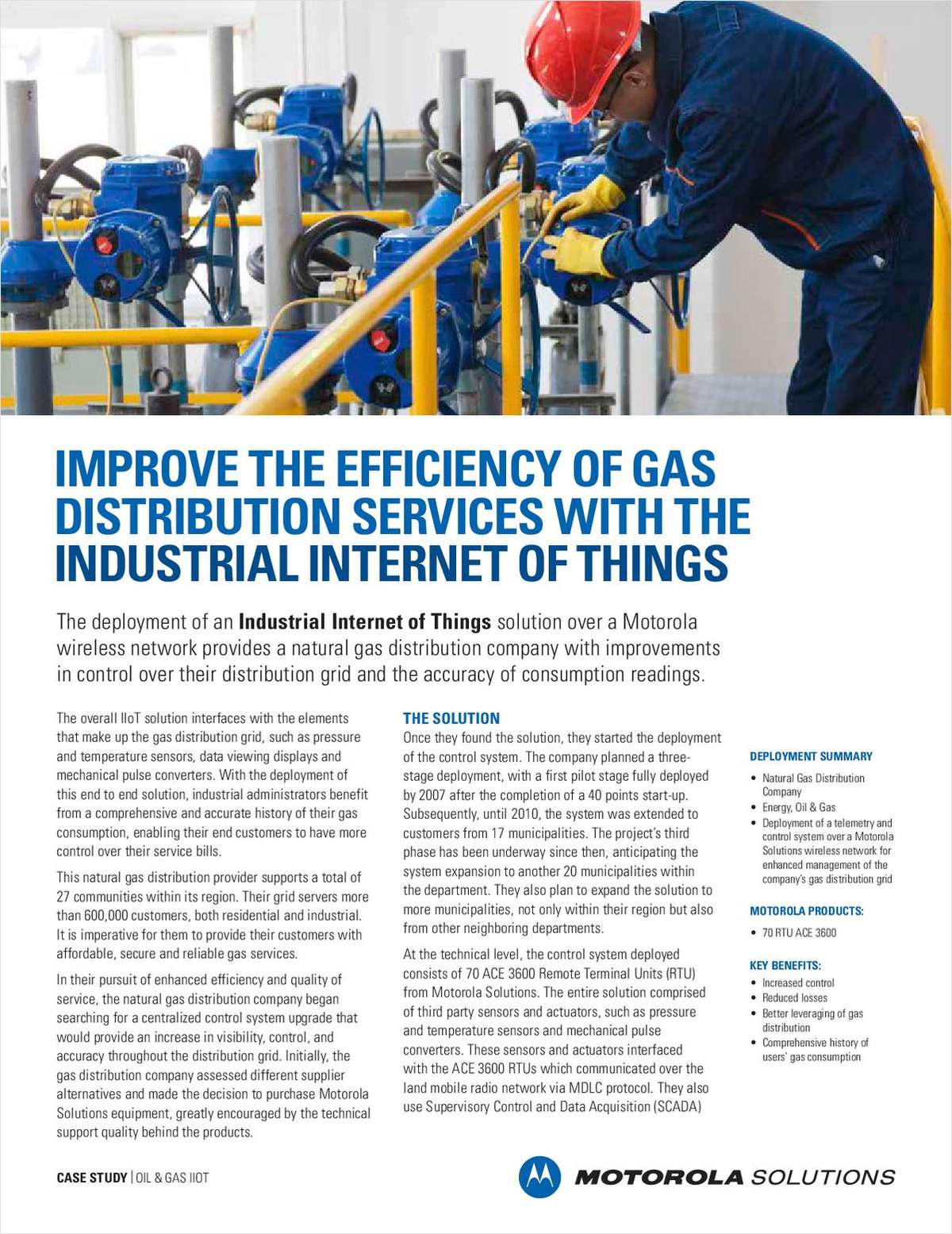 Improve the Efficiency of Gas Distribution Services With the Industrial Internet of Things