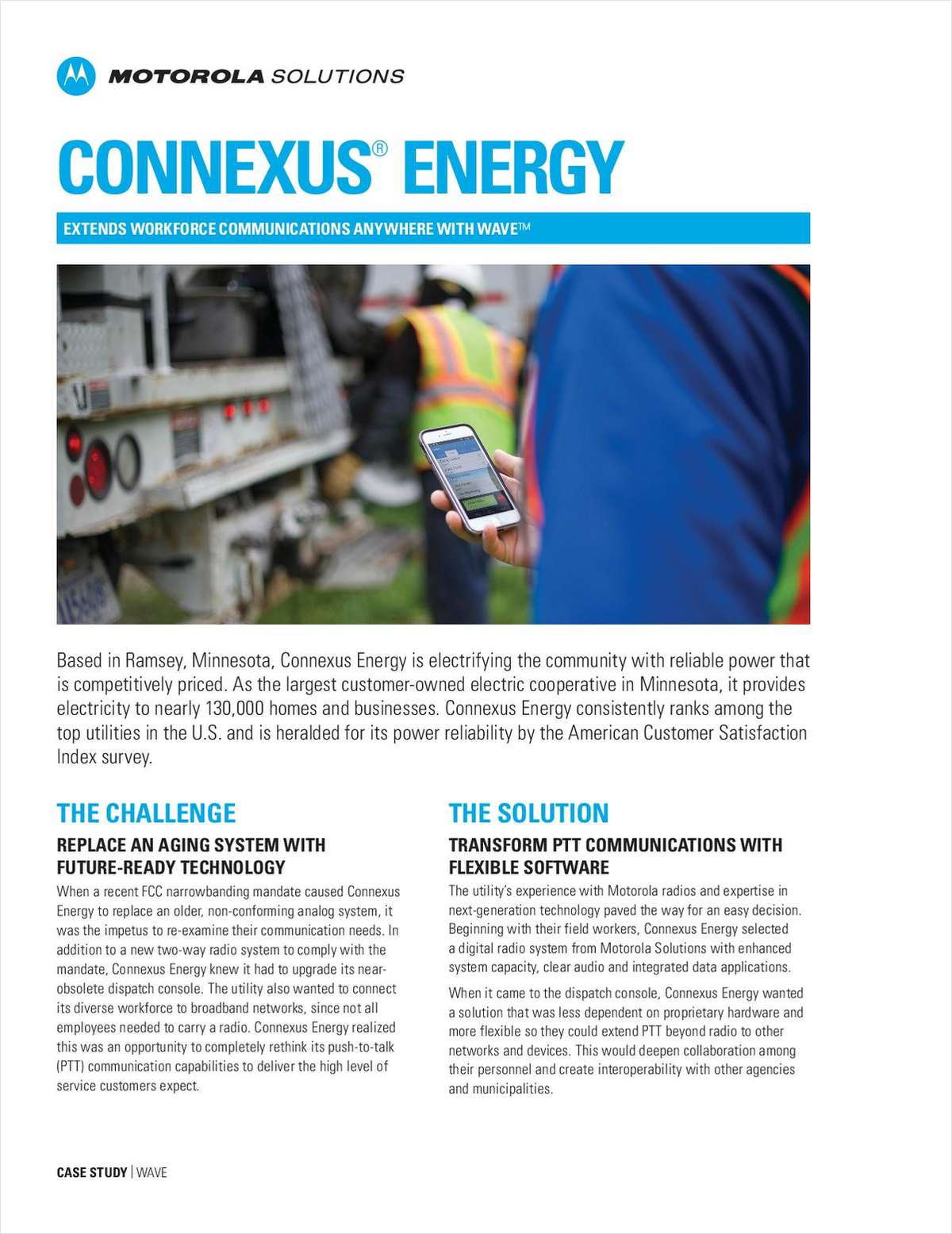 Connexus Energy Extends Workforce Communications Anywhere with WAVE