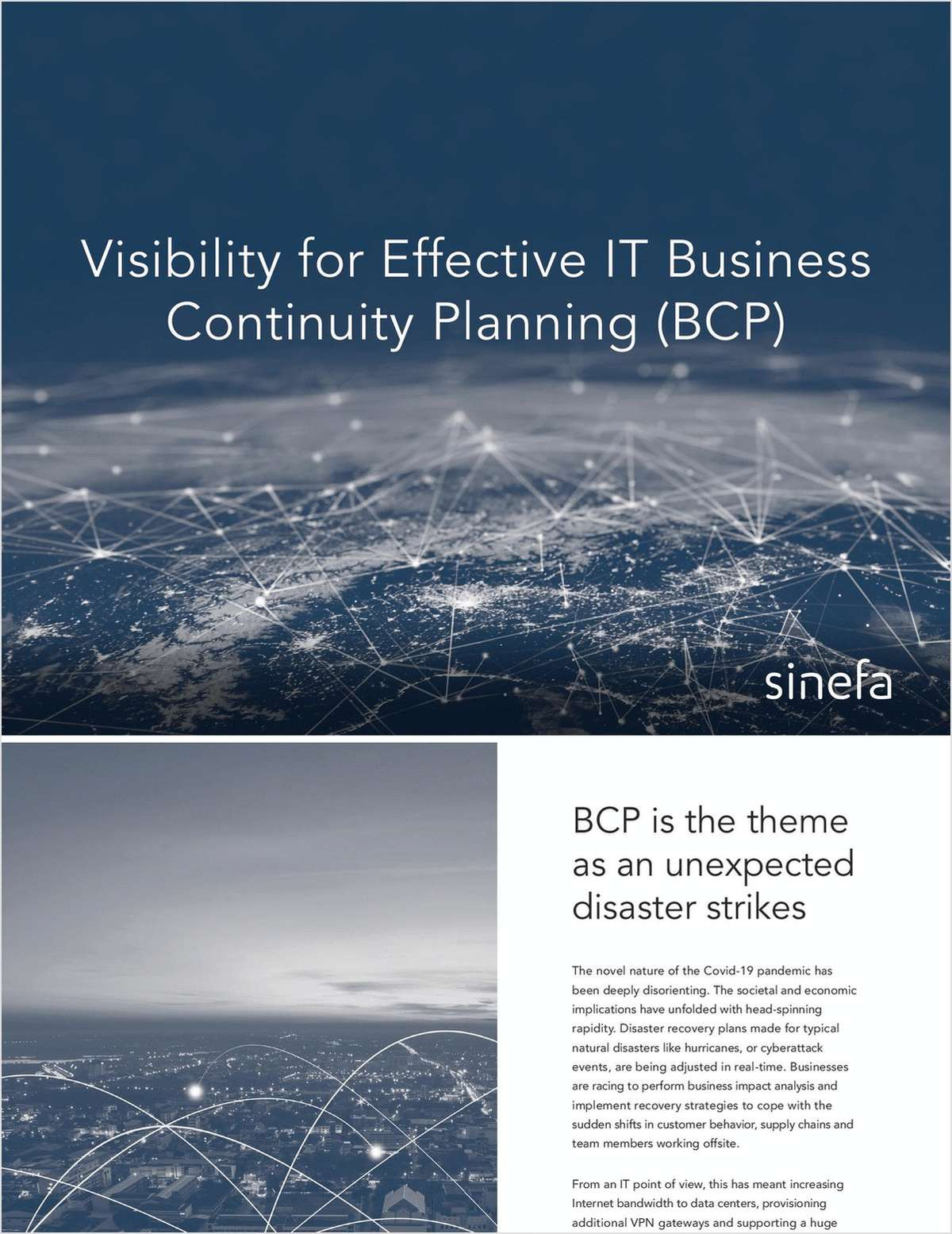 Visibility for Effective IT Business Continuity Planning