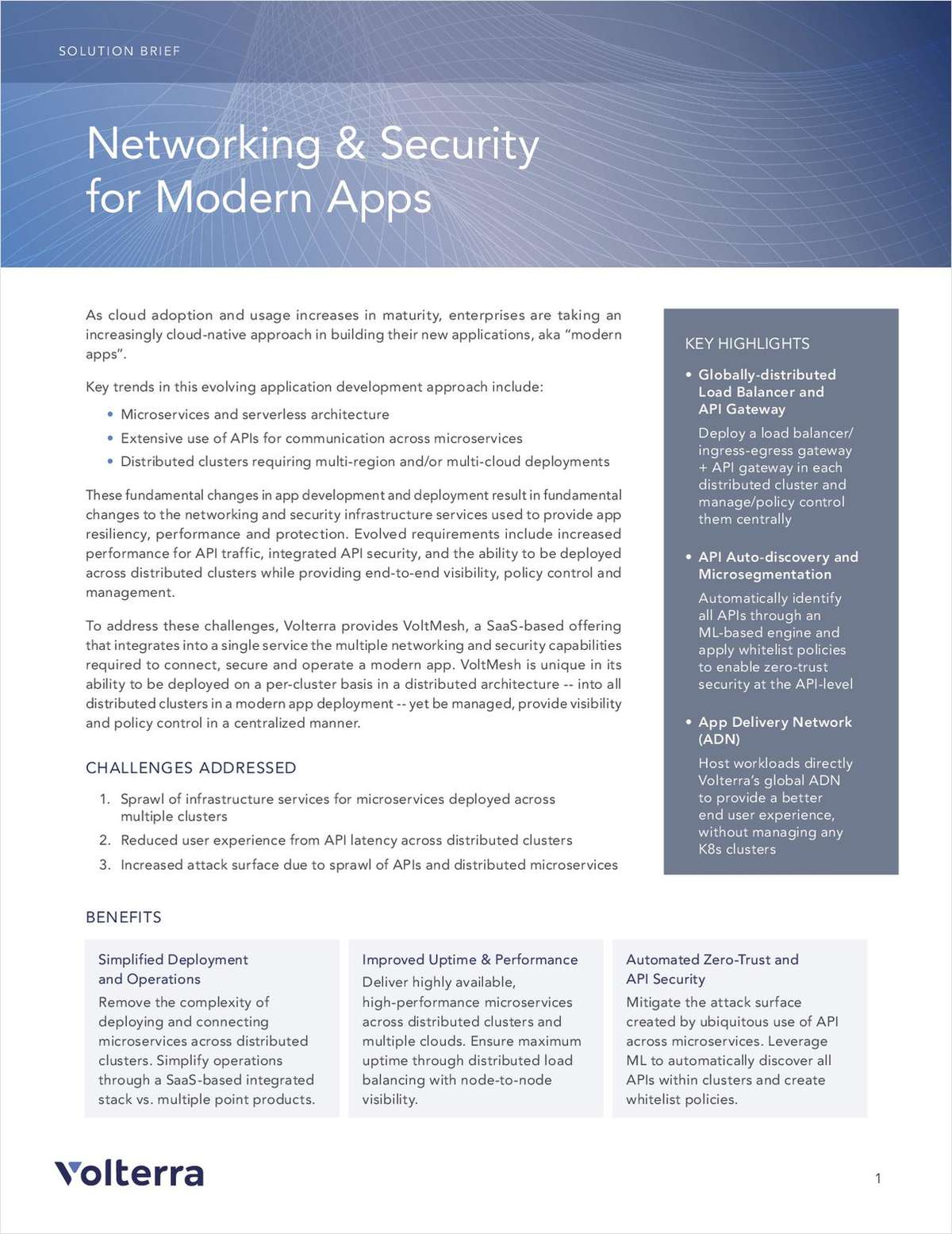 Networking & Security for Modern Apps