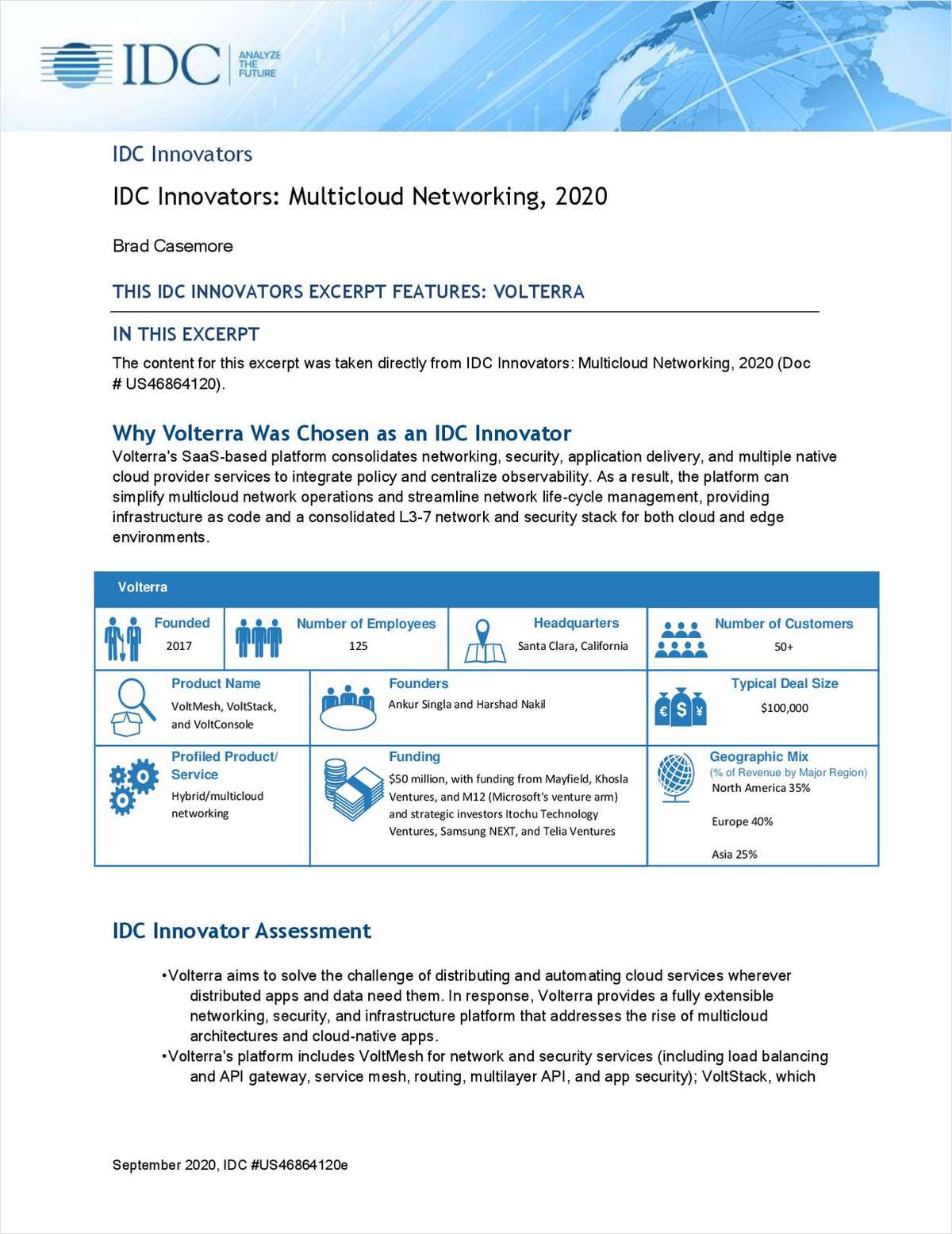 IDC Innovators: Multicloud Networking, 2020