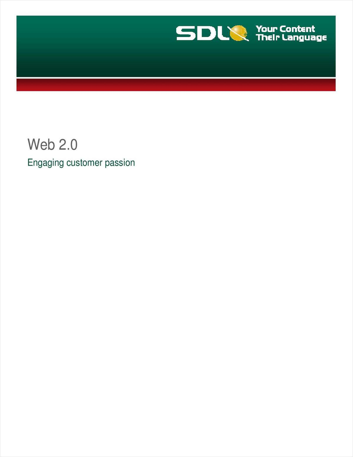 Web 2.0: Engaging Customer Passion