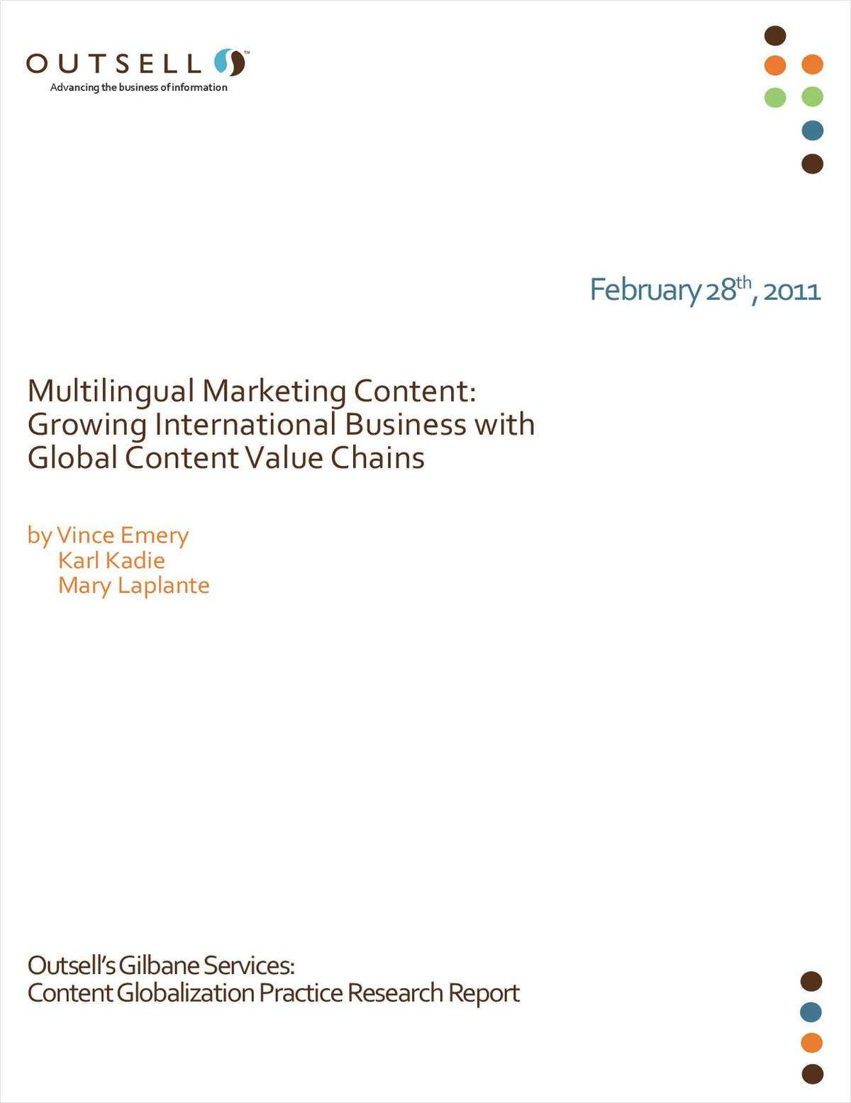 Multilingual Marketing Content: Growing International Business with Global Content Value Chains