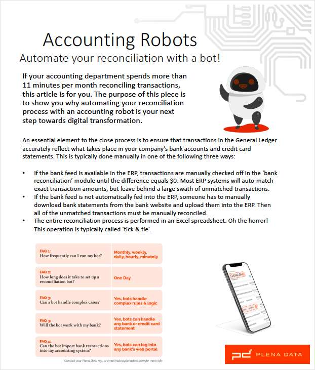 Reconciliation Robots - why use robots to automate accounting processes
