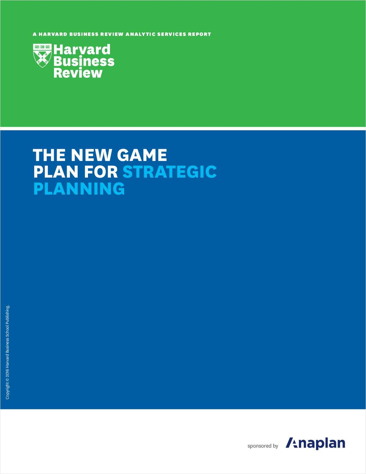 Harvard Business Review: The New Game Plan for Strategic Planning