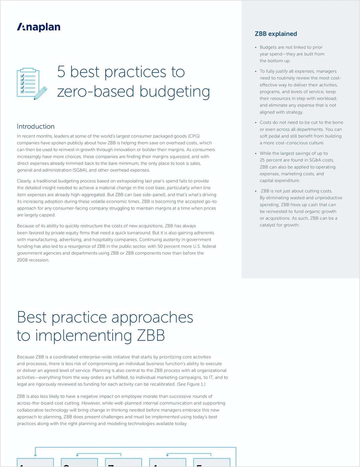5 Best Practices to ZBB