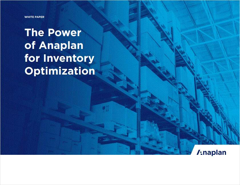 Anaplan for Inventory Optimization