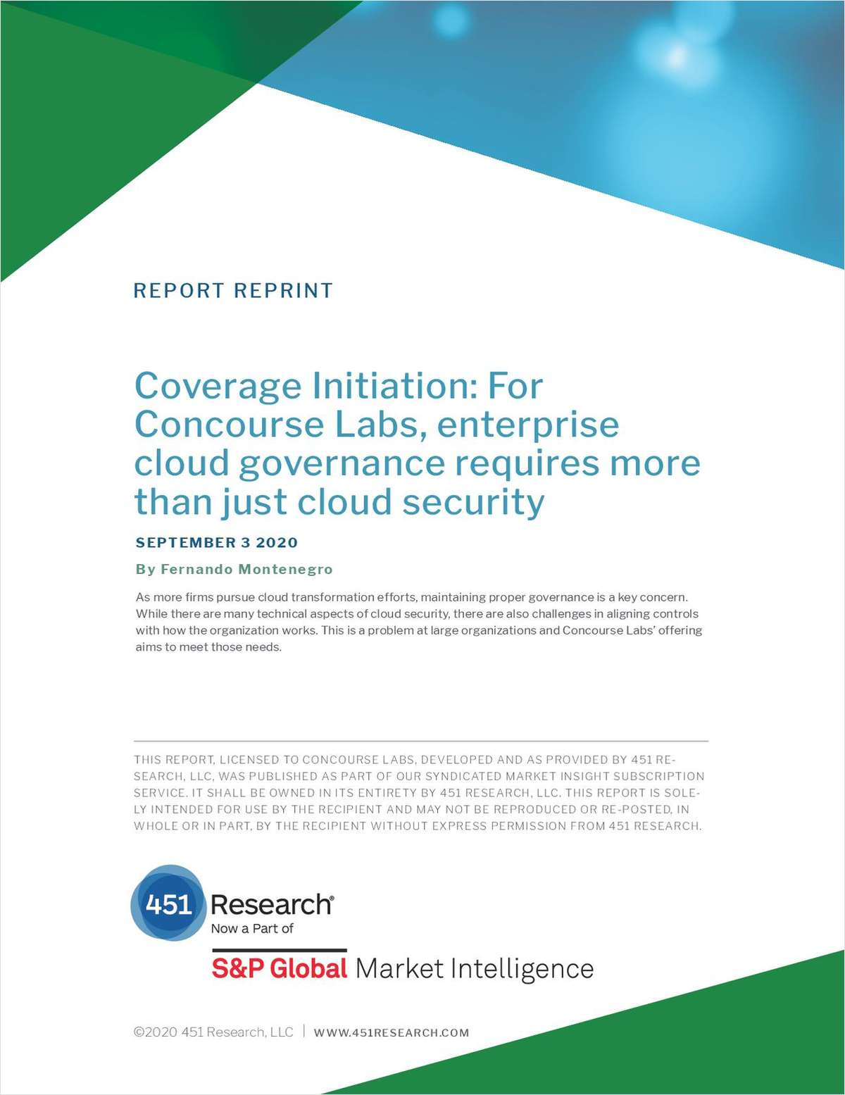 451 Research: Concourse Labs is Shaping the Cloud Governance Market