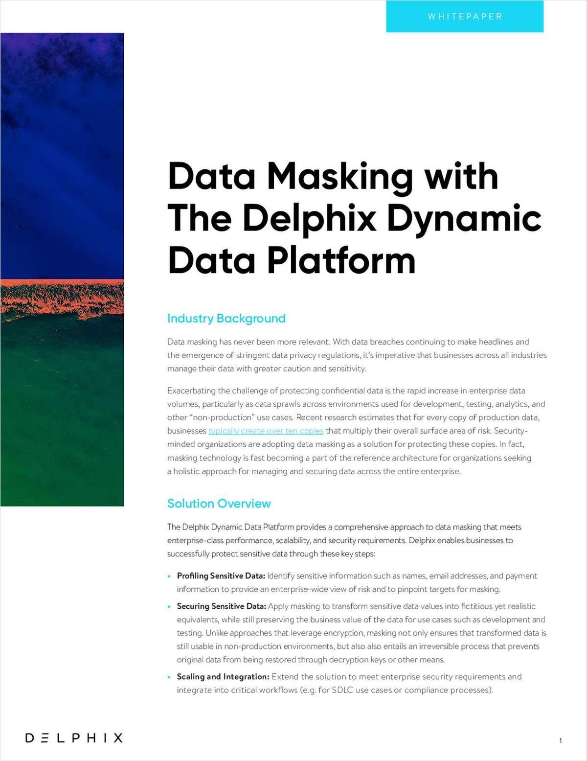 Data Masking with the Delphix Dynamic Data Platform