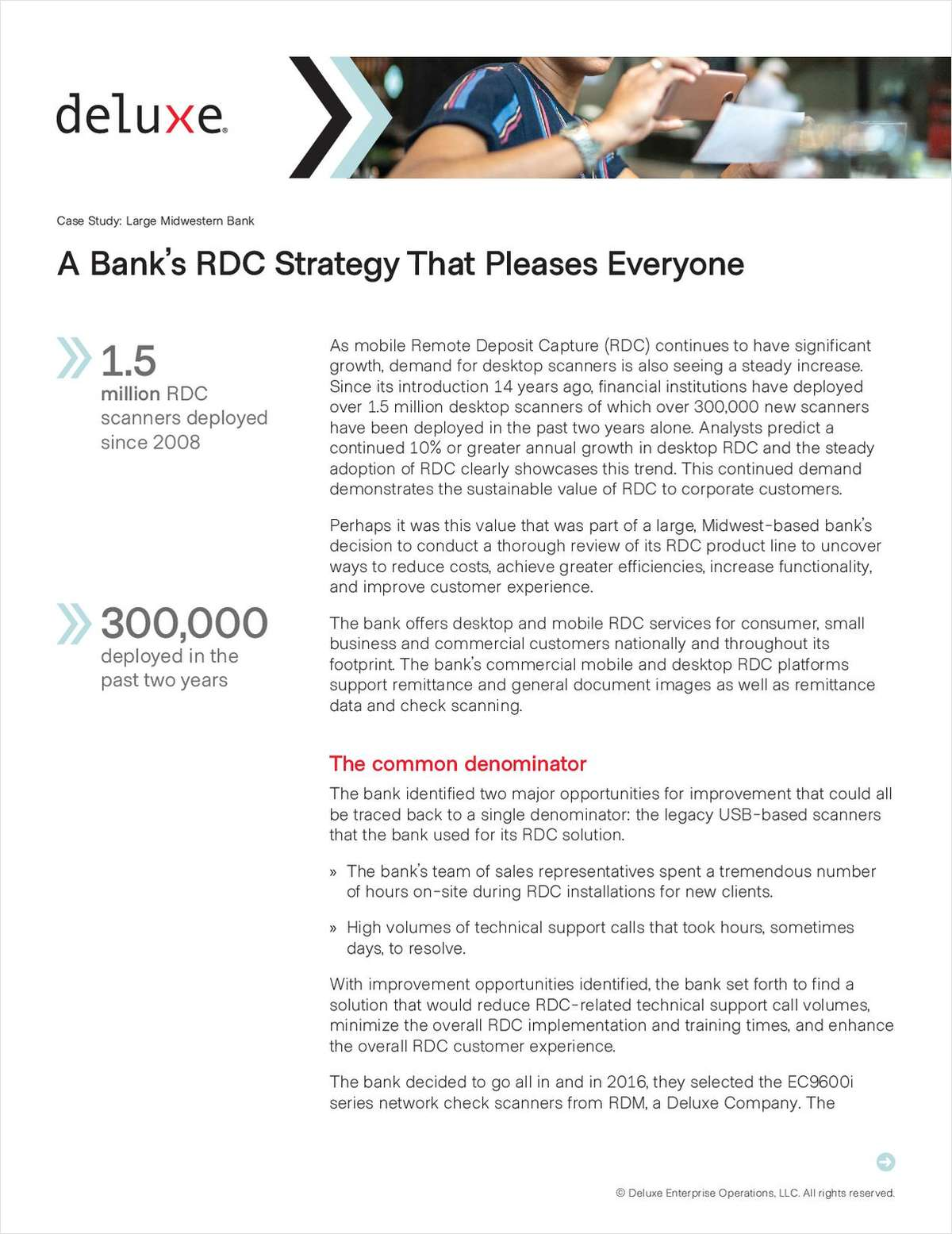 How to Make Everyone Happy: A Case Study of One Bank's RDC Transformation