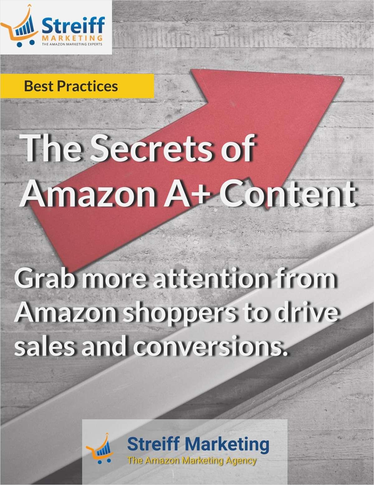 The Secrets of Amazon A+ Content