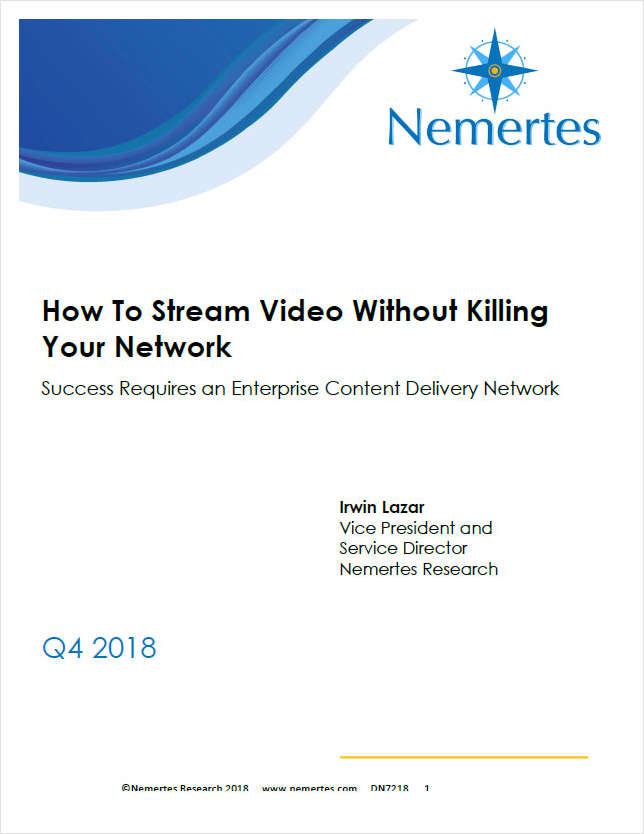How To Stream Video Without Killing Your Network