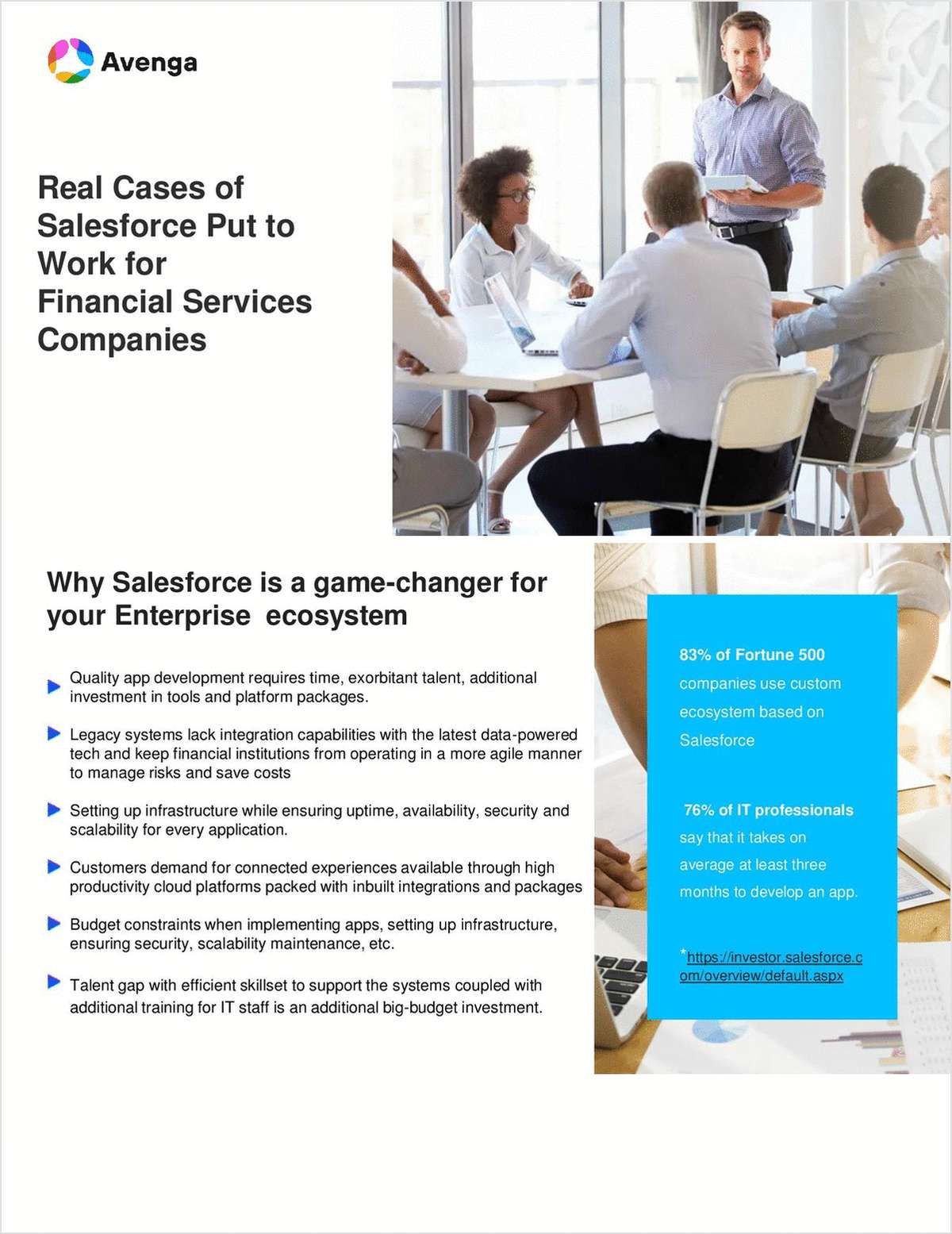 Real Cases of Salesforce Platform Put to Work for Financial Services Companies
