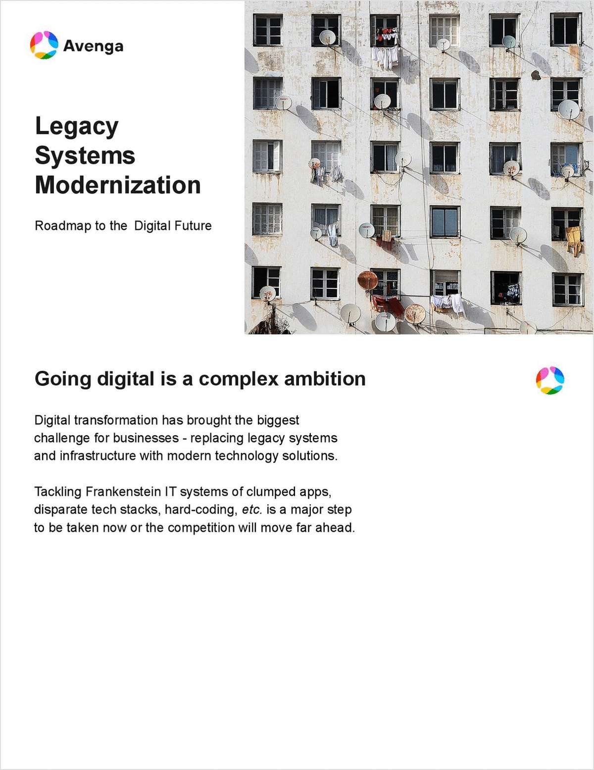 Legacy systems modernization: Roadmap to the Digital Future