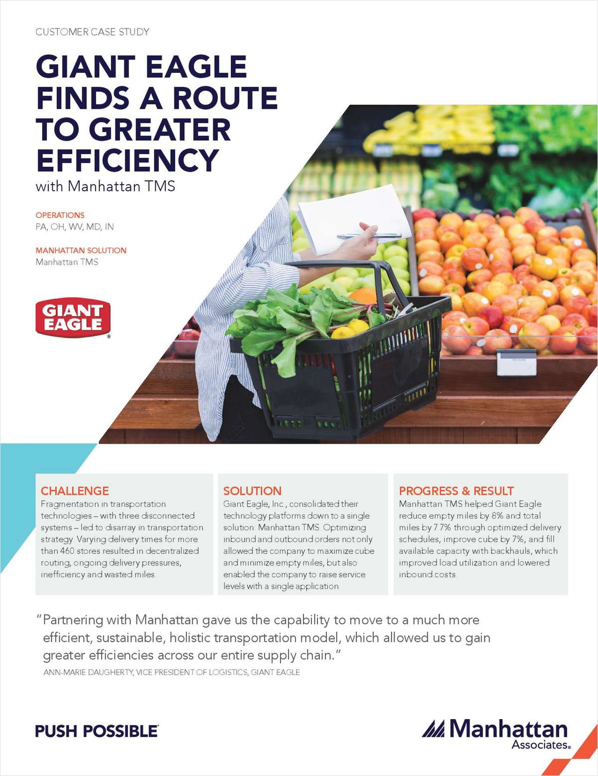 Case Study: How Giant Eagle Reduced Their Empty Miles by 8%