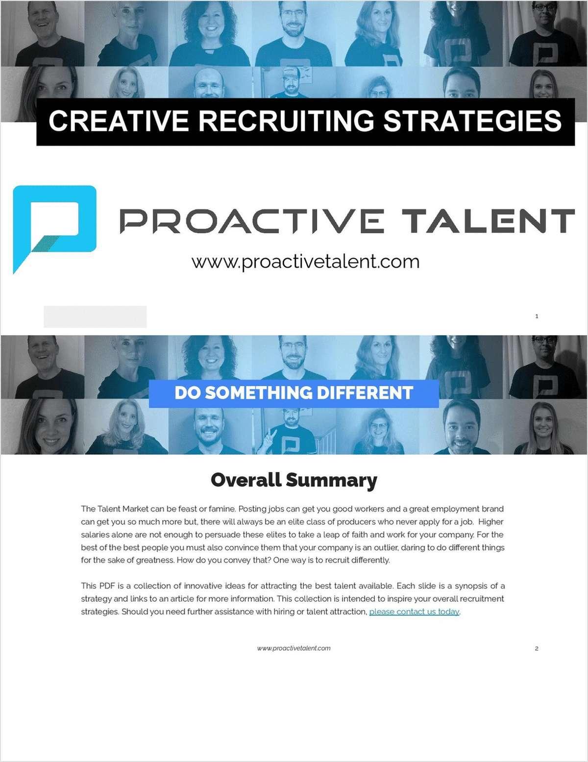 Creative Recruiting Strategies
