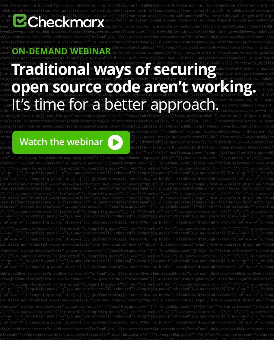 Effectively Manage the Modern Risks of Open Source Code