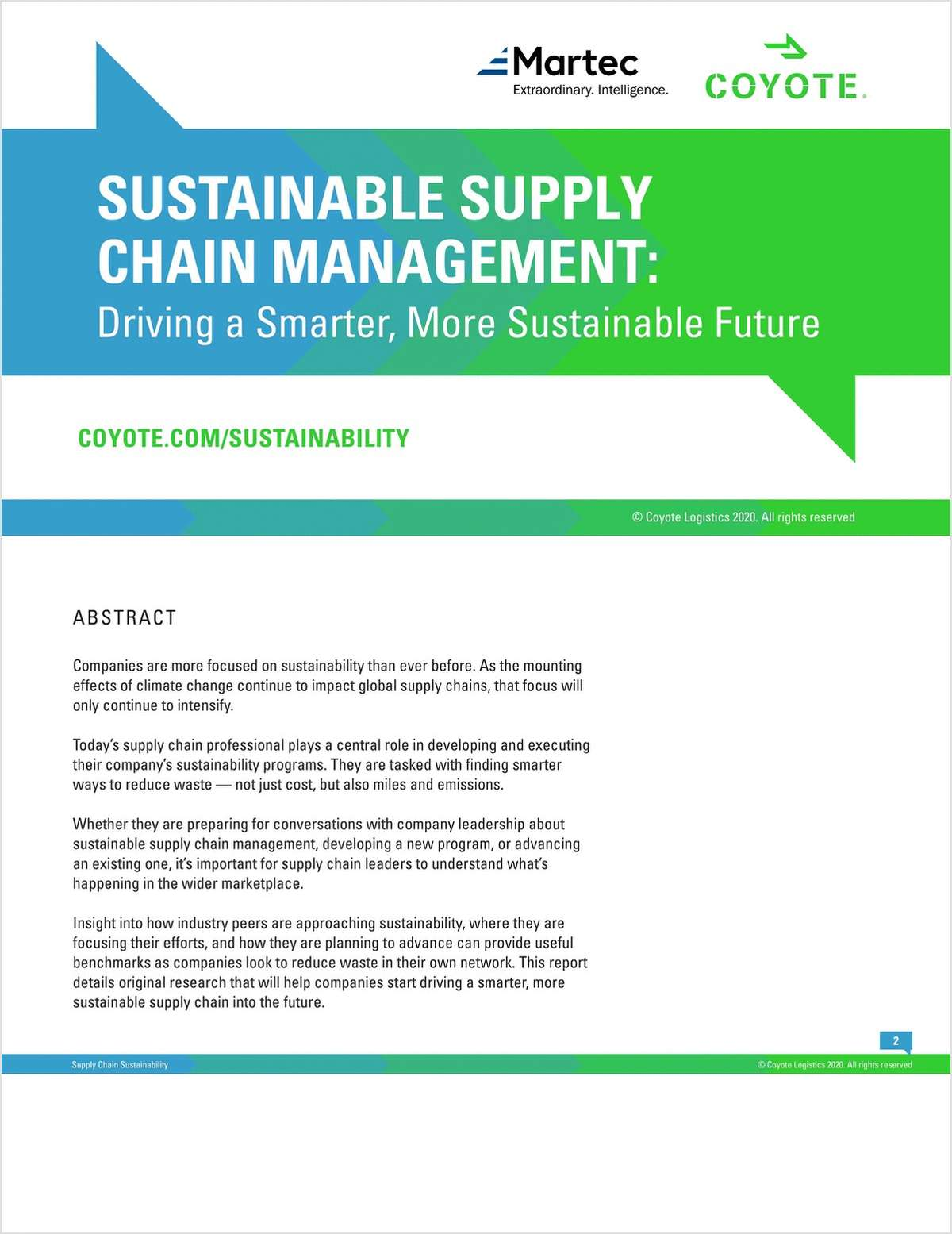Building Sustainable Supply Chains: Original Research to Help Supply Chain Professionals Reduce Waste and Improve Sustainability