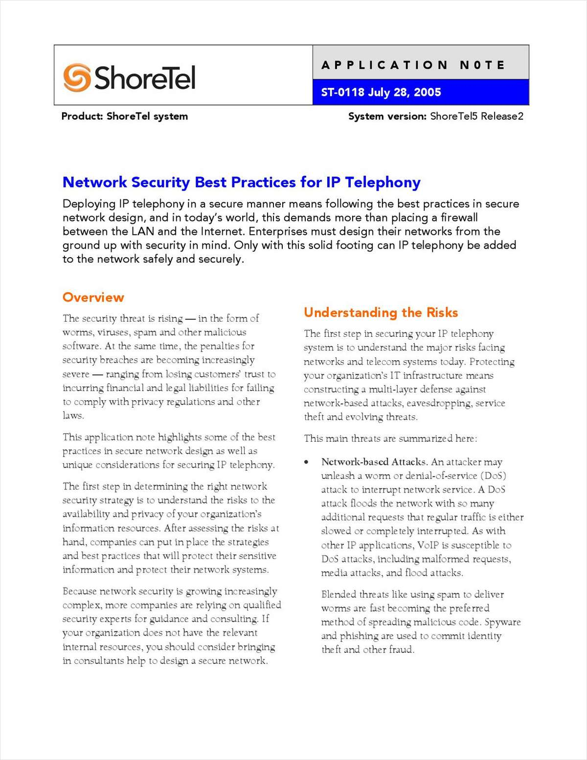 Best Practices for VoIP Security