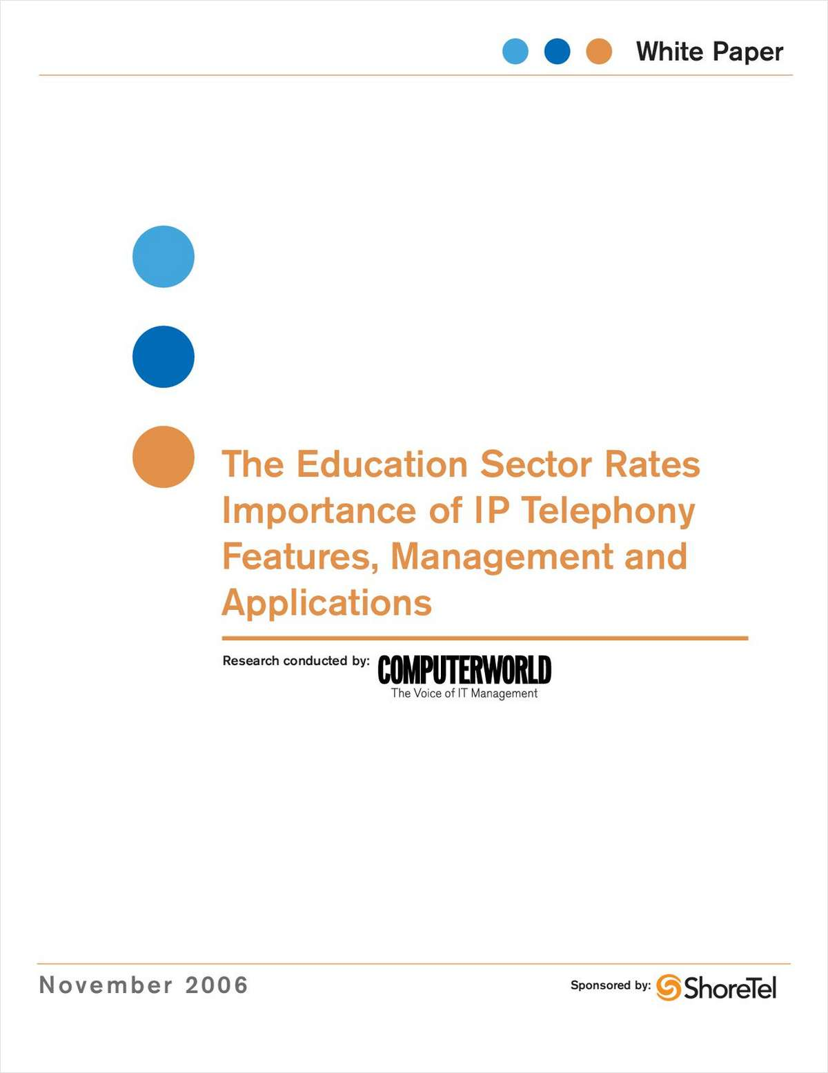 IP Telephony Features, Management and Application Importance in Education