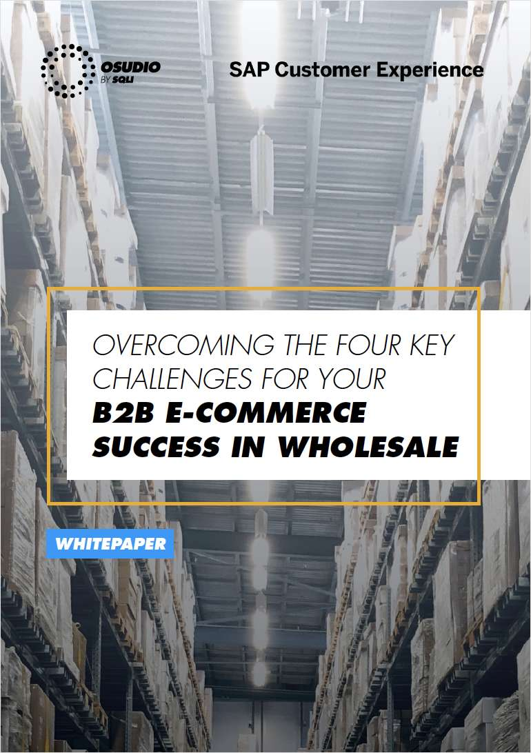 OVERCOMING THE TOP B2B E-COMMERCE CHALLENGES FOR WHOLESALERS
