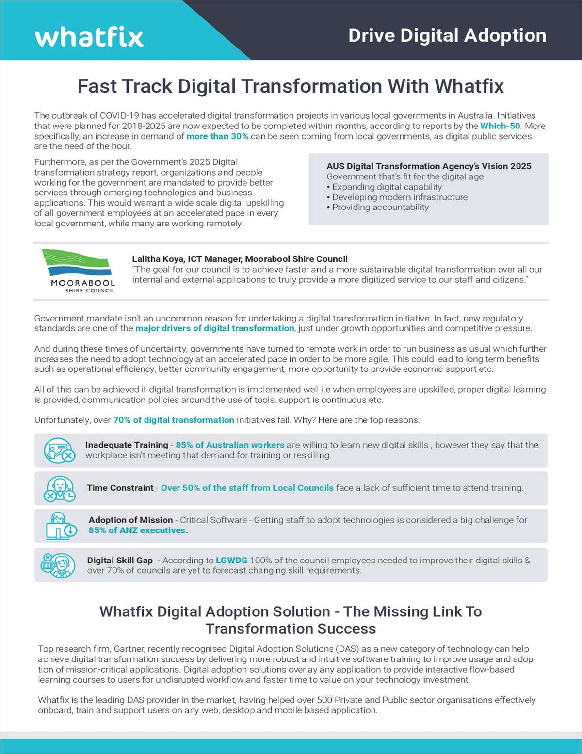 Is Your Local Council Missing The Mark On Digital Transformation? Download Our Short Paper To Find Out Why, And How You Can Course Correct Quickly With Whatfix.