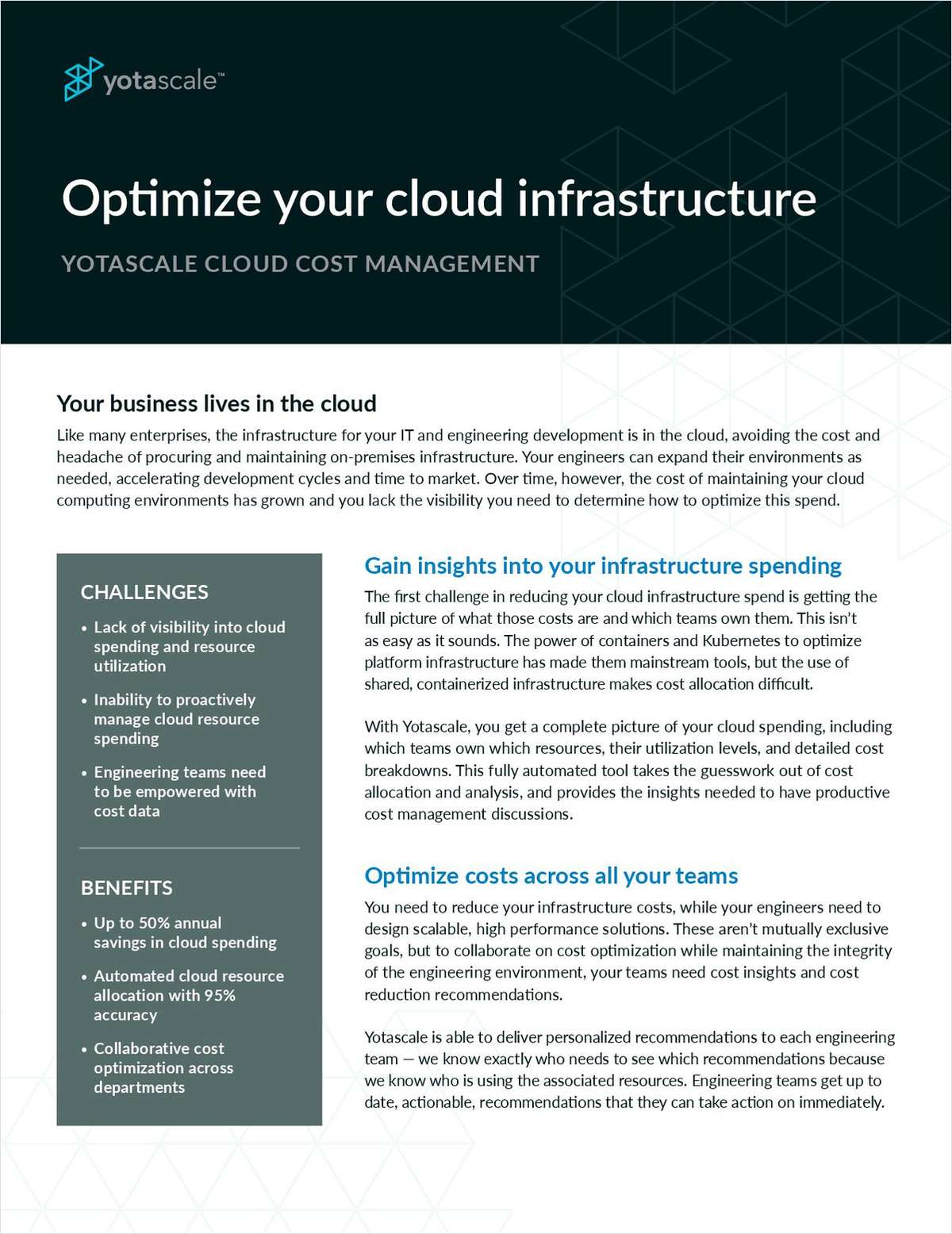 Optimize your cloud infrastructure