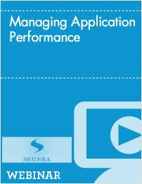 Managing Application Performance