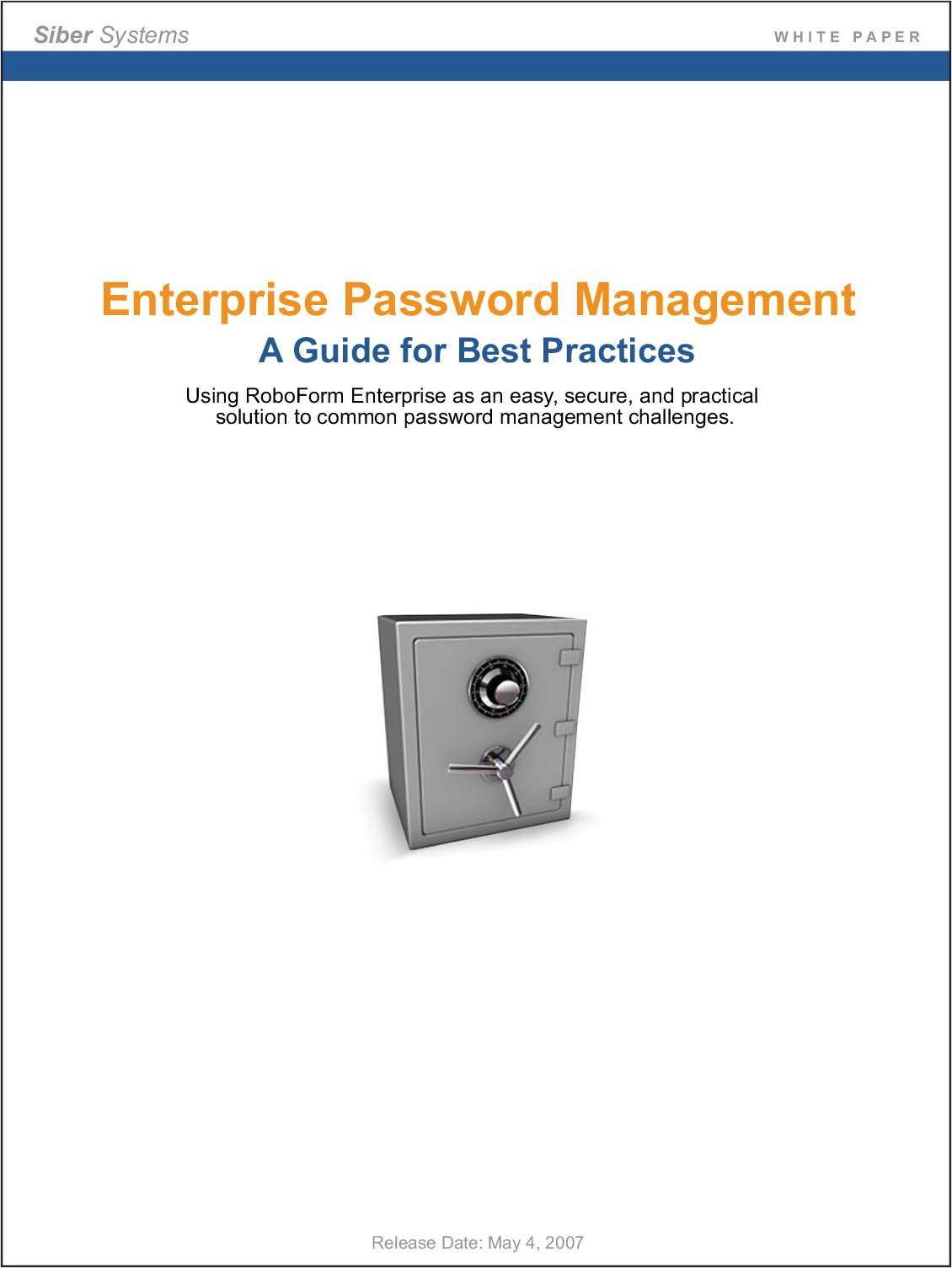 Enterprise Password Management - A Guide for Best Practices