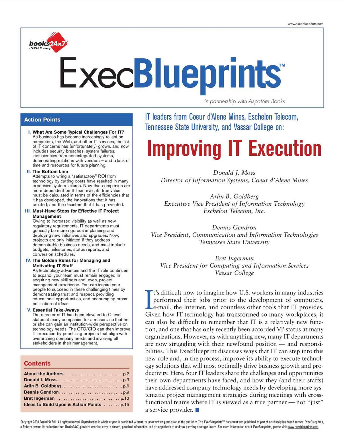 Improving IT Execution