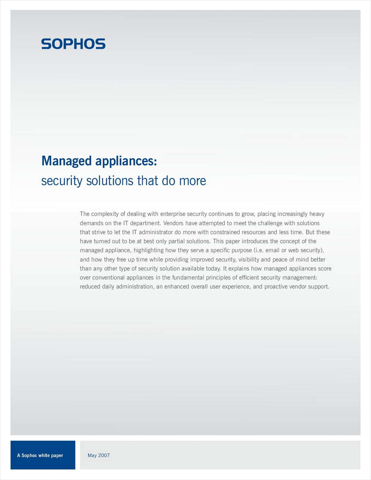 Managed Appliances: Security Solutions That Do More