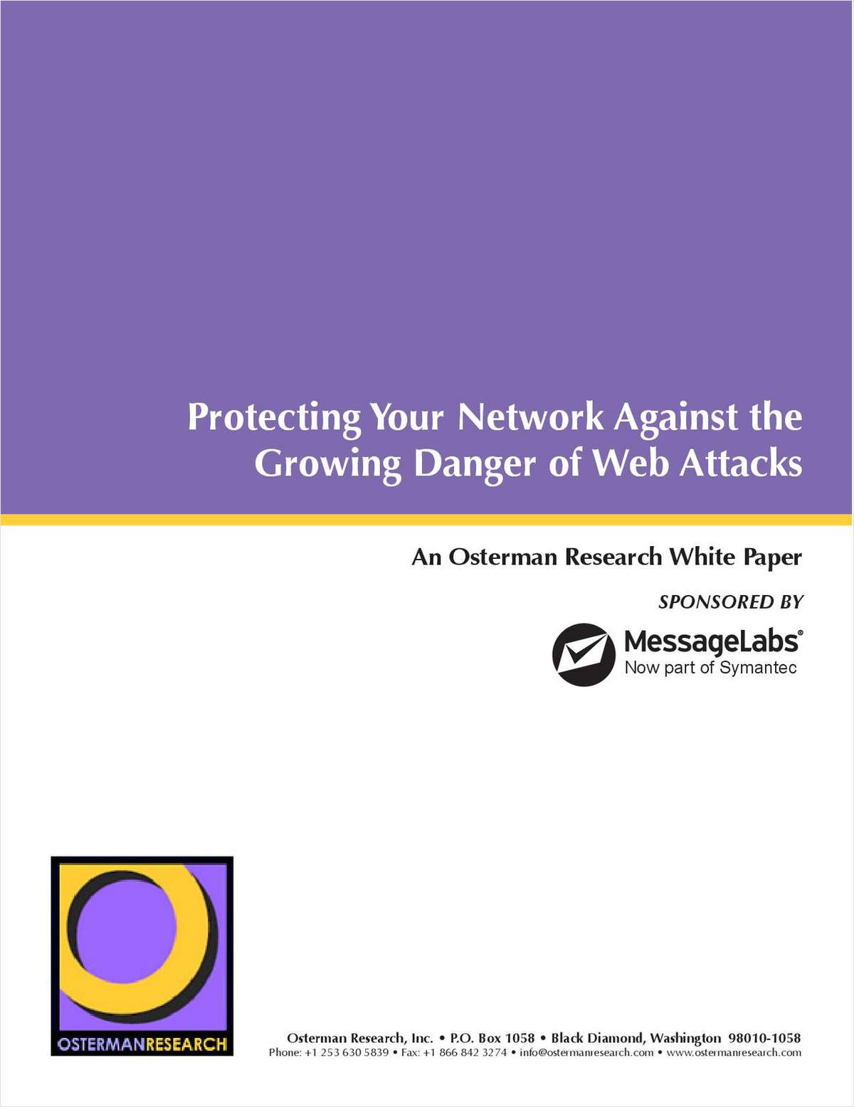 Protecting Your Network Against the Growing Danger of Web Attacks