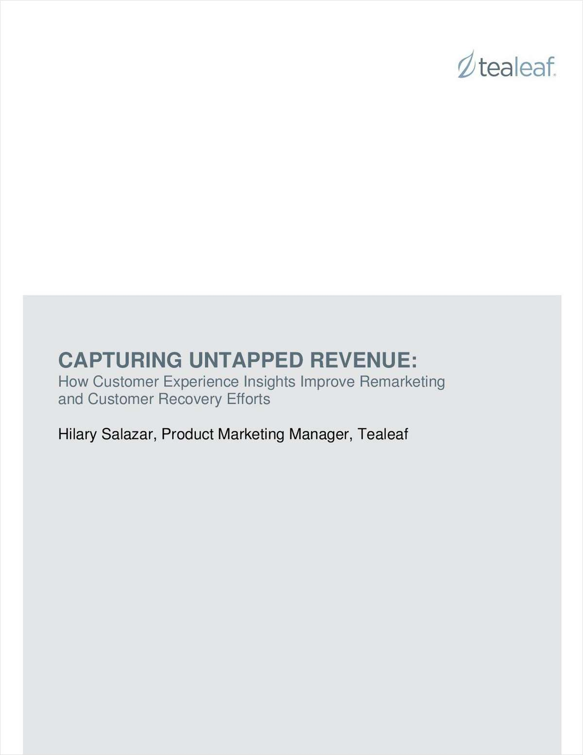 Capturing Untapped Revenue