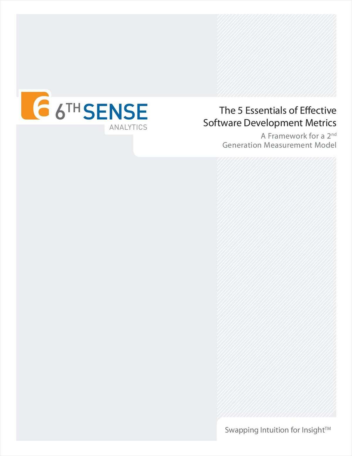 The 5 Essentials of Effective Software Development Metrics