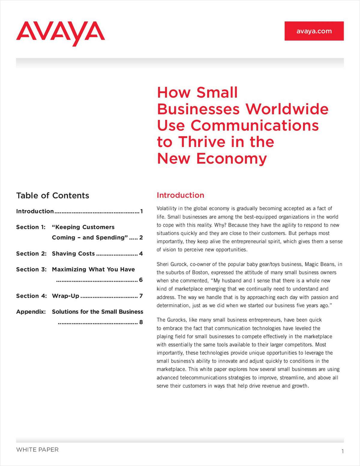 How Small Businesses Worldwide Use Communications to Thrive in the New Economy