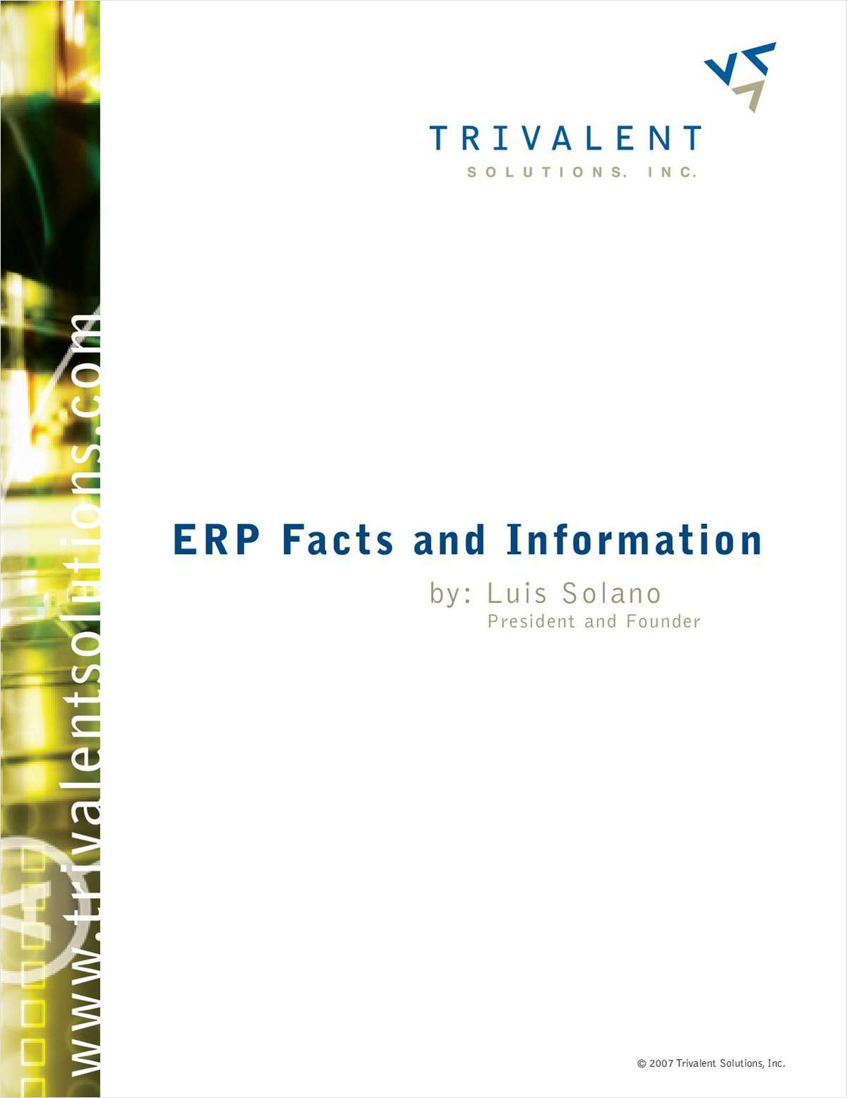 ERP Facts and Information
