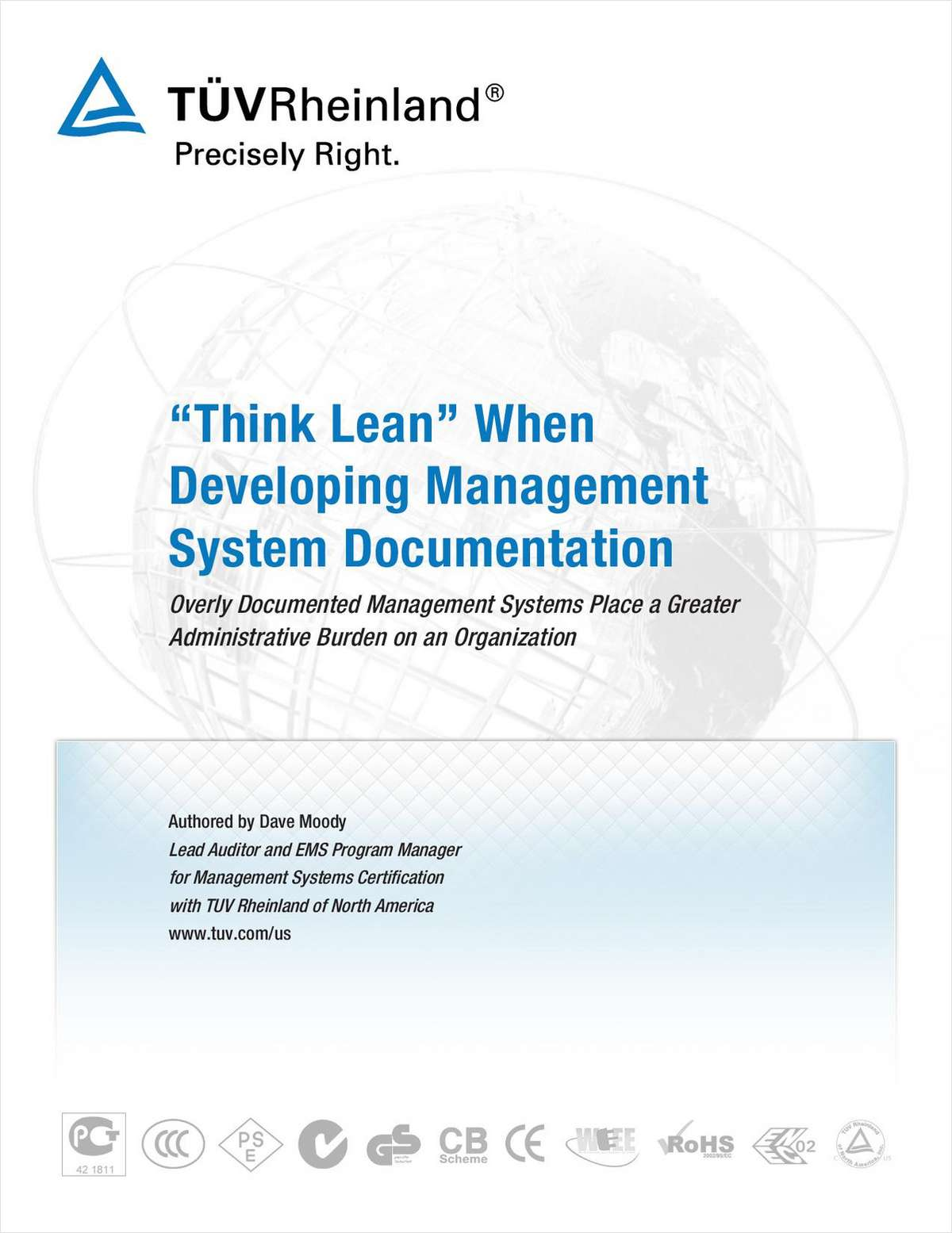 'Think Lean' When Developing Management System Documentation