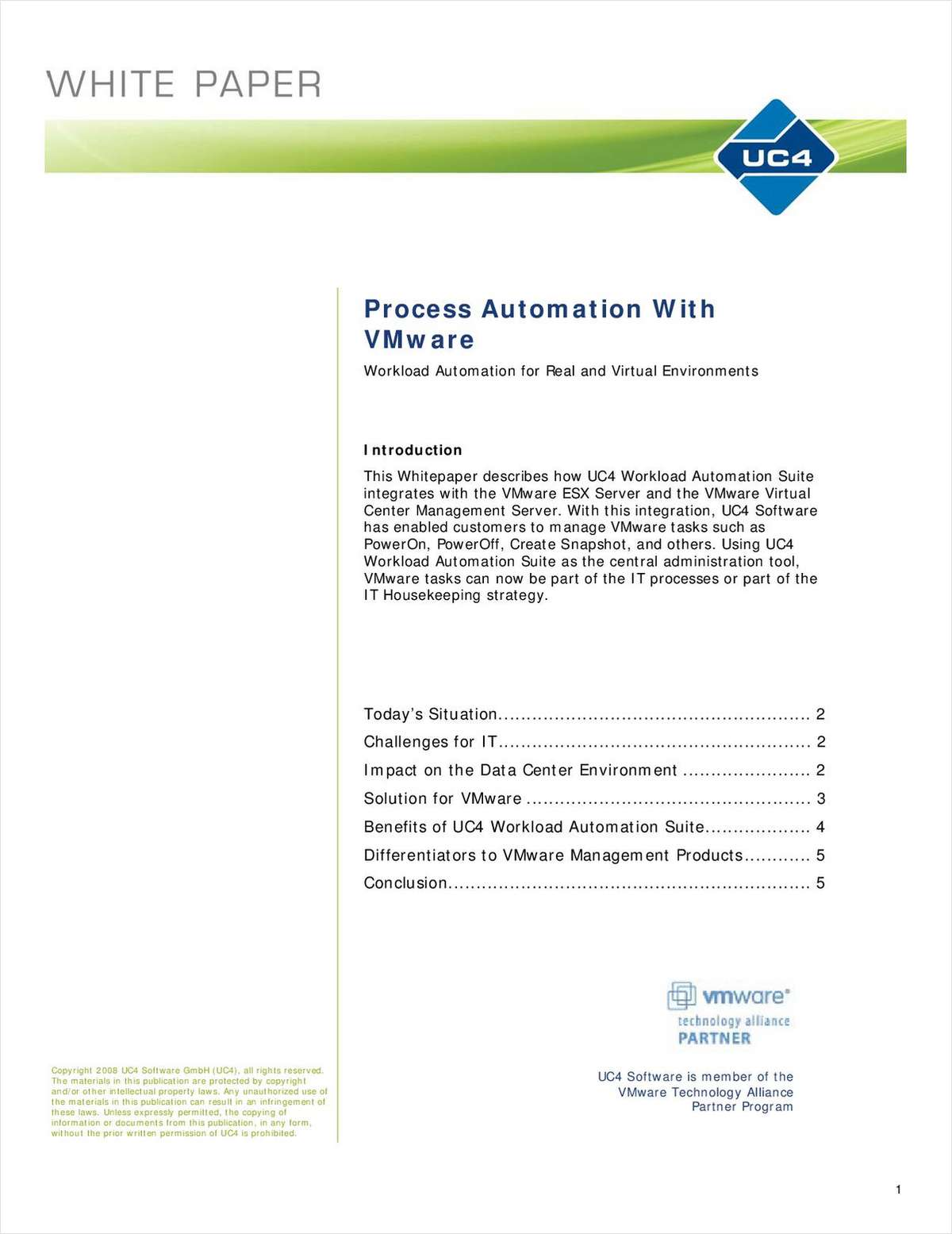 IT Process Automation and VMware - Workload Automation for Real and Virtual Environments